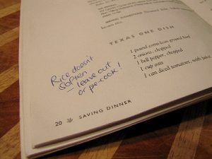 Peace in the Kitchen: Write In Your Cookbooks!