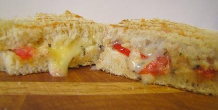 Tomato Provolone Sandwich with Garlic Basil Mayonnaise | aDelightfulHome.com