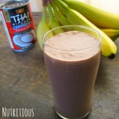 Nutritious Chocolate Coconut Drink | aDelightfulHome.com