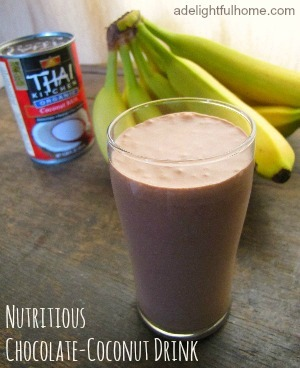 nutritious chocolate-coconut drink