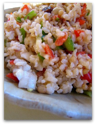 Rainbow Rice Salad   aDelightfulHome.com