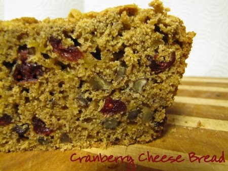 Cranberry Cheese Bread | aDelightfulHome.com