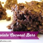 Chocolate Coconut Oat Bars (a nutritiously sweet treat)