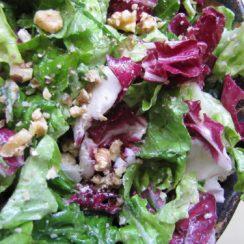 Gorgonzola and Toasted Walnut Salad | aDelightfulHome.com