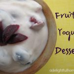 Healthy Fruited Yogurt Dessert with Blueberries and Cherries