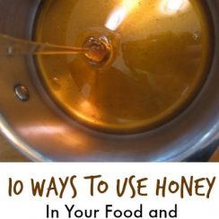 10 Ways to Use Honey (in your food and on your skin) | aDelightfulHome.com