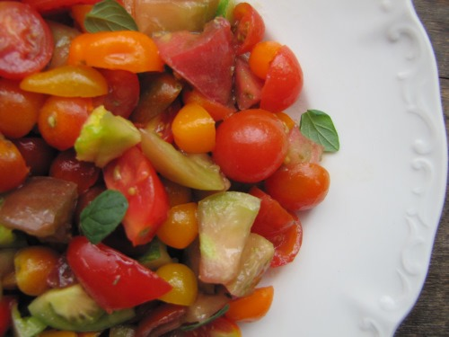 Simple Tomato Salad | aDelightfulHome.com