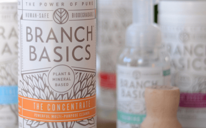 collection of branch basics natural cleaning products