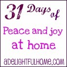 31 days of peace and joy