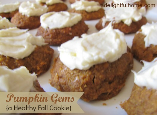 pumpkin gems - a healthy fall cookie