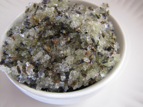 Soothing Lavender Foot Scrub | aDelightfulHome.com