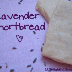 Lavender Shortbread | aDelightfulHome.com