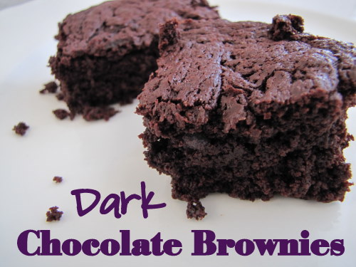 Dark Chocolate Brownies | aDelightfulHome.com