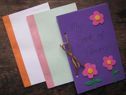 Handmade Paper Book Cover : Making books with kids a delightful home