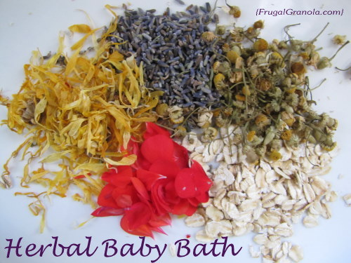 How to Make and Herbal Bath for Baby | aDelightfulHome.com