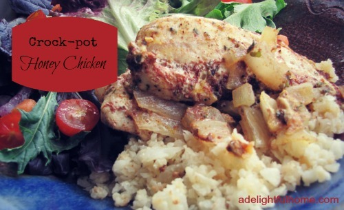Crock pot Honey chicken