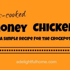 Slow-Cooked Honey Chicken (a simple crockpot recipe)   ADelightfulHome.com