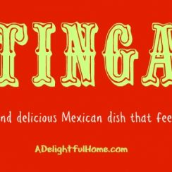 Tinga - A Simple Mexican Dish That Feeds a Crowd! | ADelightfulHome.com
