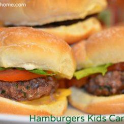 Hamburgers Kids Can Make   ADelightfulHome.com