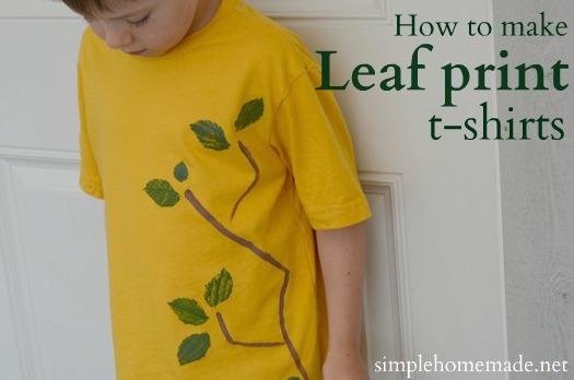 How to Make Leaf Print T-shirts | aDelightfulHome.com