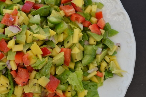 Avocado, Mango and Lime Summer Salad | Adelightfulhome.com