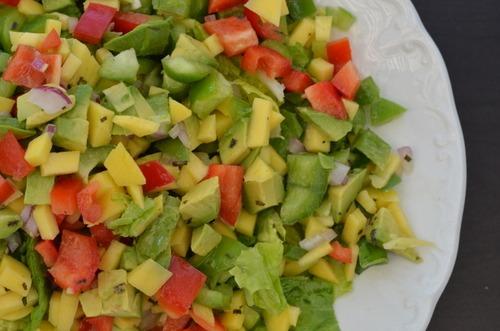 Avocado, Mango and Lime Summer Salad | Adelightfulhome.com