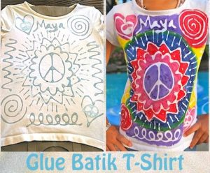DIY glue batik t-shirts