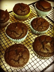 choc pumpkin muffins