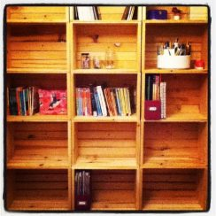 How to Make Crate Bookshelves | aDelightfulHome.com