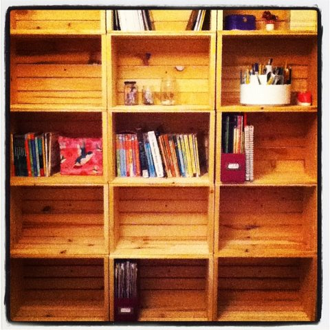 How to make crate bookshelves a delightful home for Shelves made out of crates