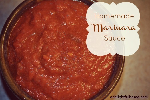 Our Favorite Marinara Sauce Recipe | ADelightfulHome.com