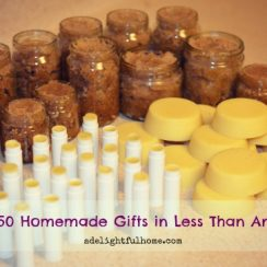 How I Made 50 Homemade Gifts in Less than an Hour (and how you can too) | aDelightfulHome.com