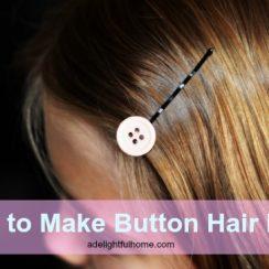 button-hair-pins