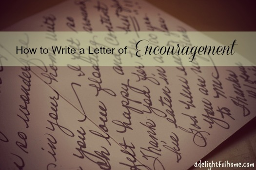 "Close up image of the inside of a handwritten card. Text overlay says, ""How to Write a Letter of Encouragement""."