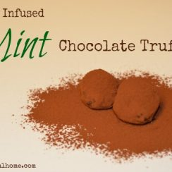 Herb Infused Mint Chocolate Truffles | ADelightfulHome.com