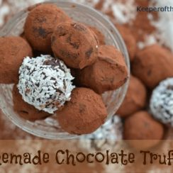 Homemade Chocolate Truffles | ADelightfulHome.com