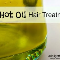 DIY Hot Oil Hair Treatment | aDelightfulHome.com