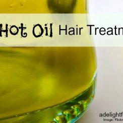 DIY Hot Oil Hair Treatment | aDelightfulHome.com