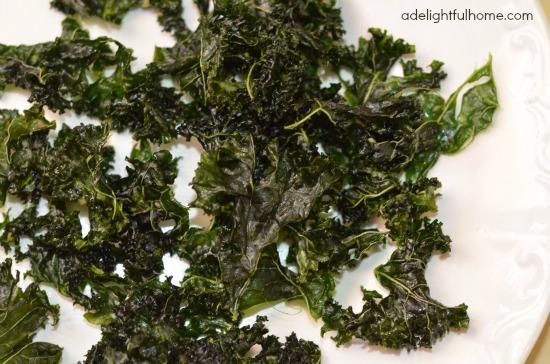Garlic kale chip recipe