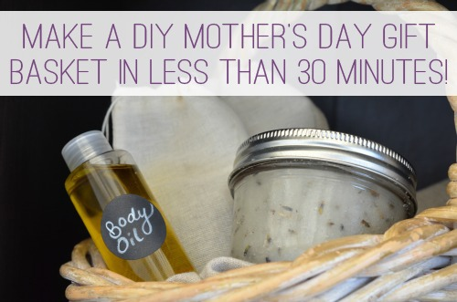 Make a DIY Mother's Day Gift Basket in Less Than 30 Minutes | aDelightfulHome.com