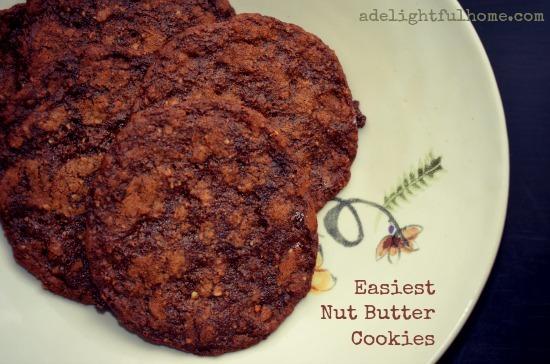 easiest nut butter cookies