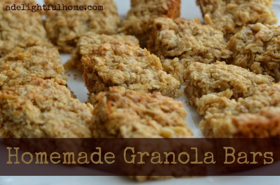 Healthy Homemade Granola Bars | ADelighfulHome.com