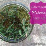 Herbal Hair Vinegar {with Rosemary}
