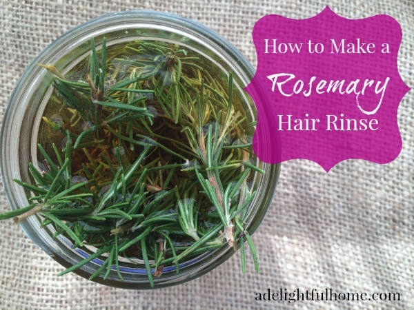 Herbal Hair Vinegar {with Rosemary} | aDelightfulHome.com