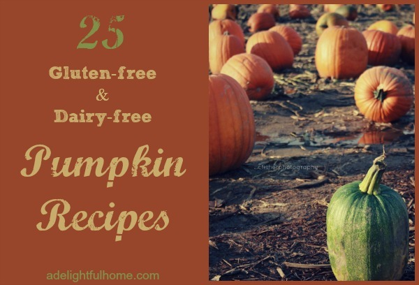 25 Gluten Free and Dairy Free Pumpkin Recipes | ADelightfulHome.com