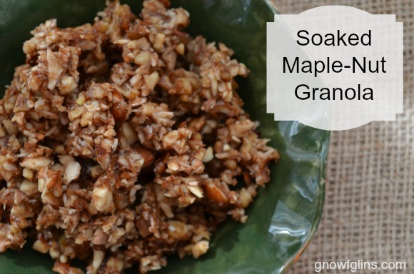 Soaked Maple-Nut Granola title