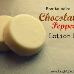 How to Make Chocolate Peppermint Lotion Bars | ADelightfulHome.com