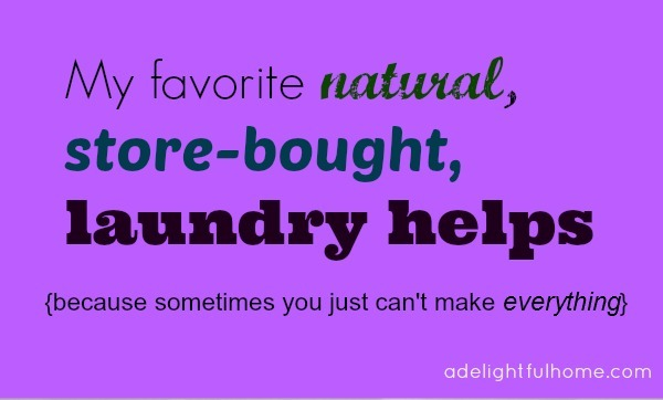 natural store-bought laundry helps