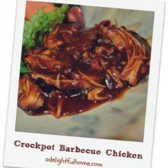 Crockpot BBQ Chicken | ADelightfulHome.com