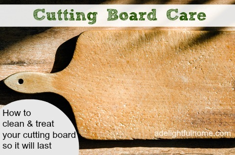 cutting board care